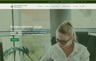 Izrada web sajta za Knjigovodstvena agencija Advantage ATF