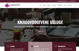 Izrada web sajta za Knjigovodstvena agencija Profit Plus Beograd
