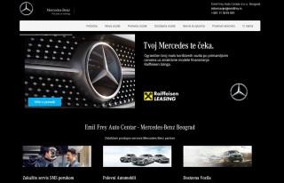 Izrada web sajta za MERCEDES-BENZ EMIL FREY  SRBIJA