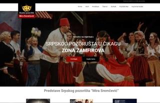 """Izrada web sajta za Srpsko Američko Pozorište """"Mira Sremčević"""""""
