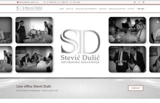 Izrada web sajta za Advokatska kancelarija Stević Dulić