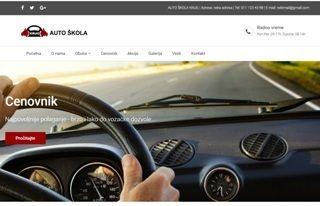 Izrada web sajta za Auto Škola Krug