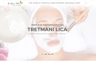 Izrada web sajta za Body & Skin Concept centar