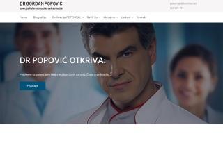 Izrada web sajta za Dr GORDAN POPOVIC