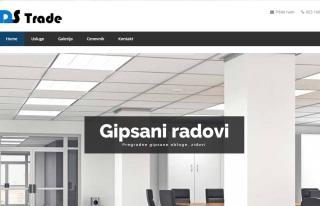 Izrada web sajta za DS Trade