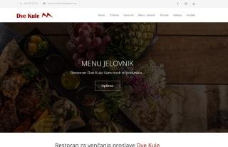 Izrada web sajta za Restoran za venčanja proslave Dve Kule