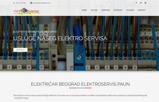 Izrada web sajta za Električar Beograd elektroservis Paun