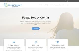 Izrada web sajta za Focus Terapy Centar