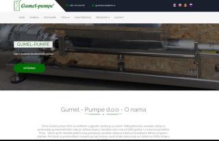 Izrada web sajta za Gumel - Pumpe d.o.o