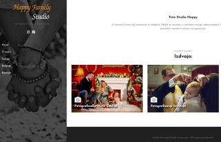 Izrada web sajta za Foto Studio Happy Family