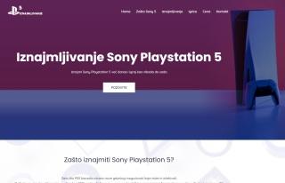Izrada web sajta za Iznajmljivanje Sony Playstation 5