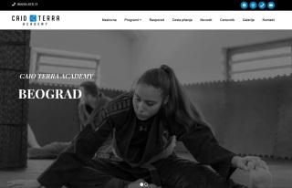 Izrada web sajta za Jiu jitsu CAIO TERRA ACADEMY