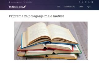 Izrada web sajta za Mentor-BSU