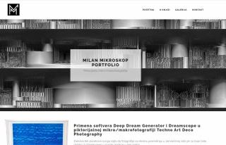 Izrada web sajta za MILAN MIKROSKOP
