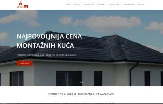 Izrada web sajta za LUKS M - montazne kuce Ivanjica