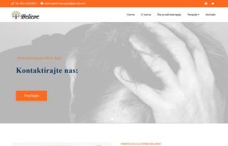 Izrada web sajta za Psihoterapija BELIEVE Novi Sad