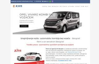 Izrada web sajta za Rent a car Beograd
