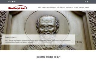 Izrada web sajta za Duborez Studio 3d Art
