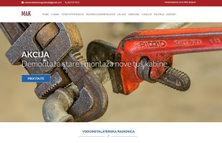 Izrada web sajta za Vodoinstalaterski servis MAK