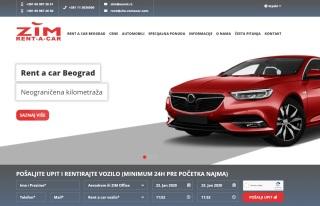 Izrada web sajta za RENT A CAR BEOGRAD ZIM